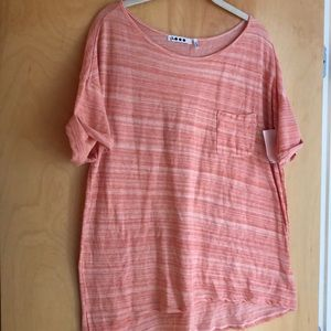 NWT Three Dots heathered light orange tunic XL
